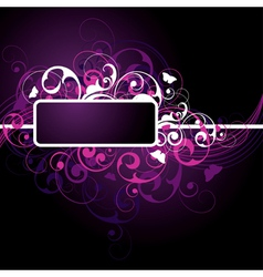 fancy dark purple background vector image