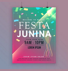 festa junina flyer template for brazilian festival vector image vector image