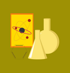 Flat icon on stylish background chemistry lesson vector