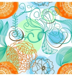 Funky floral pattern vector