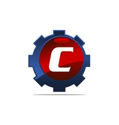 Gear logo letter c vector