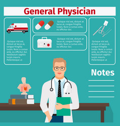 general physician and medical equipment icons vector image vector image