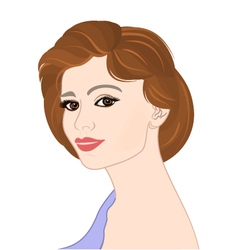 Girl-with-brown-hair-portrat vector image vector image