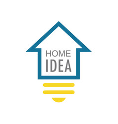home idea logo vector image vector image