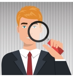 man search icon vector image