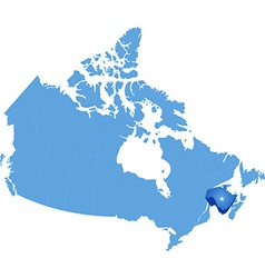 Map of canada - new brunswick province vector