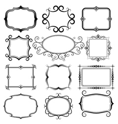 Ornate frames set vector