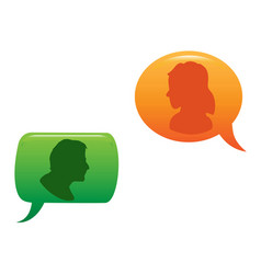 People communicated in color speech bubble vector