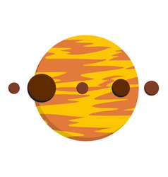 Planet and moons icon isolated vector