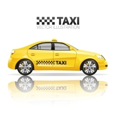 Realistic taxi vector