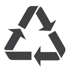 Recycle symbol glyph icon eco and delivery vector