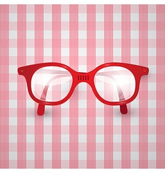Retro background - old glasses on pink tablecloth vector
