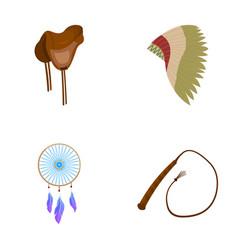 Saddle indian mohawk whip dream catcherwild vector
