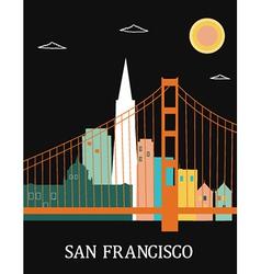 San Francisco California vector image