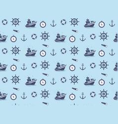 Seamless pattern - marine theme vector