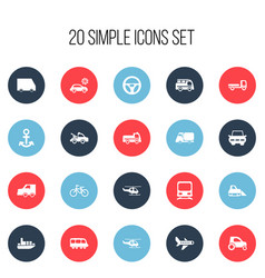 Set of 20 editable shipment icons includes vector