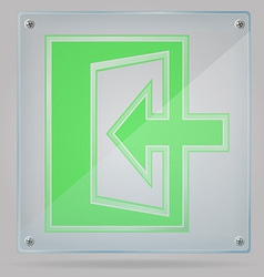 transparent sign exit on the plate 02 vector image vector image
