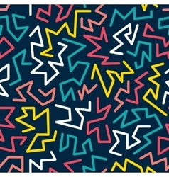 Trendy memphis style seamless pattern inspired by vector image vector image