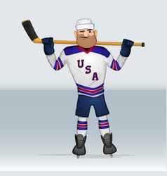Usa team ice hockey player vector