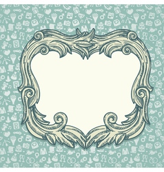 vintage background with wedding ans love icons vector image vector image