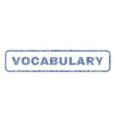 Vocabulary textile stamp vector