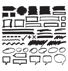 Marker design elements vector