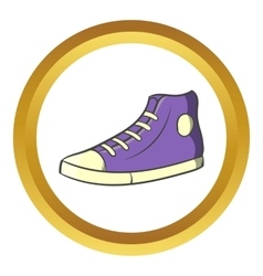 Pair of sneakers icon cartoon style vector image
