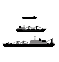 set of ship vector image
