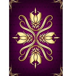 Purple cover vector image