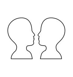 women and man head vector image