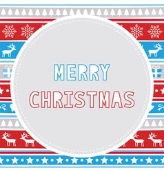 Merry christmas greeting card29 vector