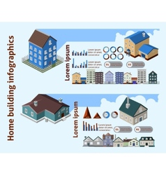 Home building infographics vector