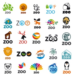 big set of logos zoo vector image