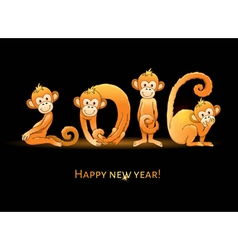 2016 monkey year vector