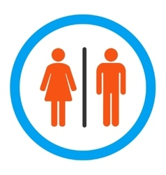 Toilets rounded icon vector