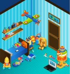 Playroom Concept Isometric vector image