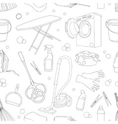 Doodle pattern set of cleanup vector