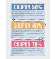 Coupon design sale icon shopping concept vector image