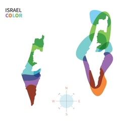 Abstract color map of israel vector