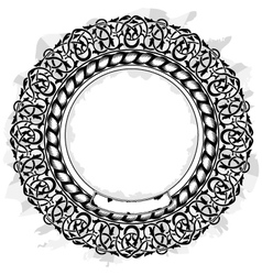 black circle frame vector image