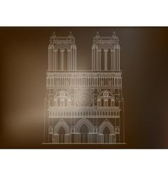 Cathedral notre-dame de paris in france - 3 vector