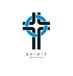 Christian cross true belief in god symbol vector