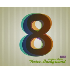 Color Transparency Symbol 8 vector image