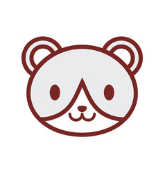 Cute bear face image vector