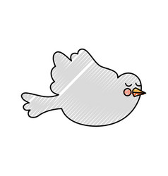 cute dove isolated icon vector image vector image