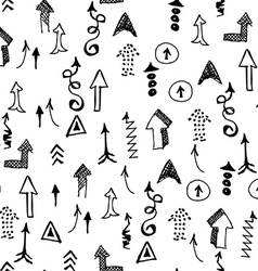 Doodle Arrows Seamless Pattern Background Concept vector image vector image