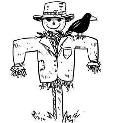 Doodle scare crow vector
