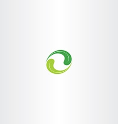 ecology leaf circle green logo icon vector image