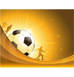 Gold soccer background vector image vector image