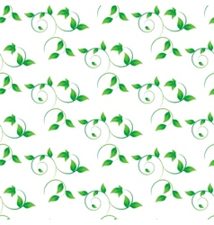 green leaves seamless background vector image vector image